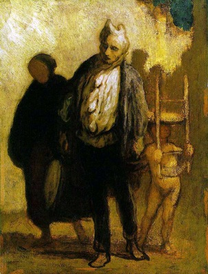 DAUMIER Honore Wandering Saltimbanques