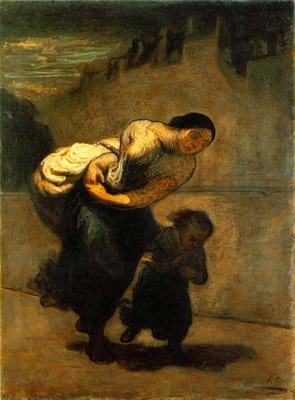 Daumier Burden, c  1850 53 Oil on canvas, 130 x 98 cm The