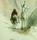 Daumier Don Quixote and the dead mule, 32 5 x 54 5 cm, Musee