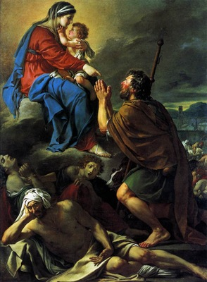 DAVID Jacques Louis St Roch Asking the Virgin Mary to Heal Victims of the Plague