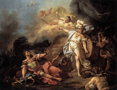 DAVID Jacques Louis The Combat of Mars and Minerva