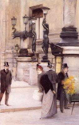 de Montzaigle, Edgard de Saint Pierre Outside the Paris Opera end