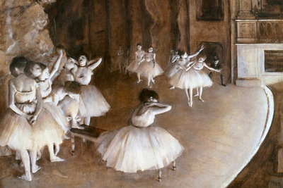 ballet rehearsal on the set, degas, 1874 1600x1200 id