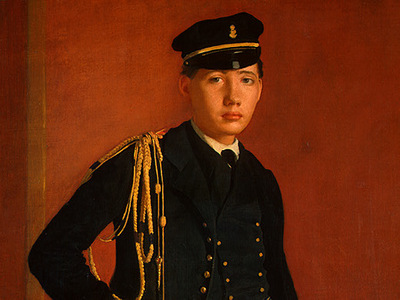 degas achille de gas in the uniform of a cadet, detalj 1,
