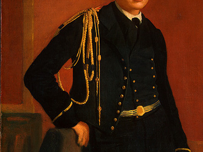 degas achille de gas in the uniform of a cadet, detalj 3,