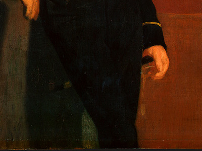 degas achille de gas in the uniform of a cadet, detalj 4,
