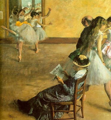 Degas Ballet Class, 1881, oil on canvas, Philadelphia Museum