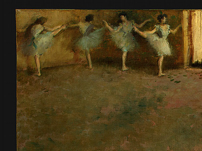 Degas Before the Ballet, 1890 1892, detalj 1, NG Washington