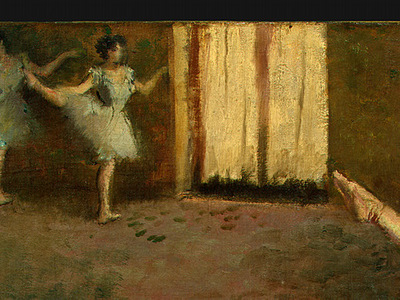 Degas Before the Ballet, 1890 1892, detalj 2, NG Washington