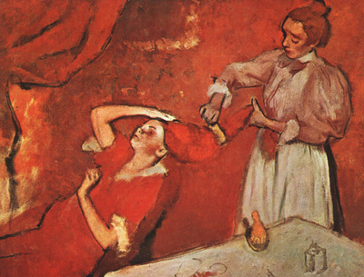 Degas Combing the Hair, unfinished, 1895, National Gallery,