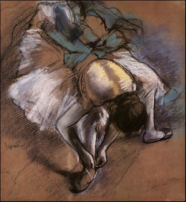 Degas Dancer Adjusting Her Slipper, 1880 85 c