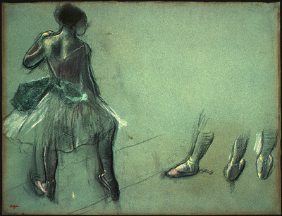 Degas Dancer Seen from Behind and 3 Studies of Feet c1878 N