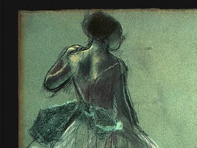 Degas Dancer Seen from Behind and 3 Studies of Feet c1878 de