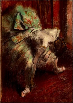 Degas Dancer in Green Tutu, 1880 85 c