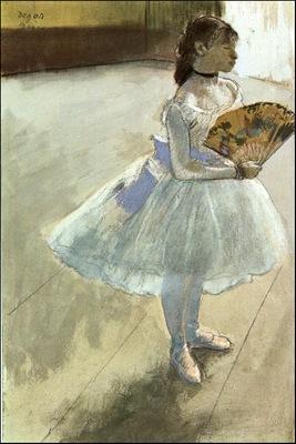 degas dancer with a fan,