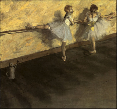 degas dancers practicing at the barre, 1876