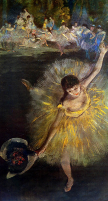Degas Edgar Dancer bowing Sun