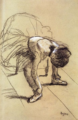 Degas Edgar Seated Dancer Adjusting Her Shoes