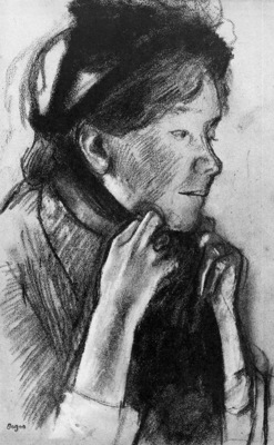 Degas Edgar Woman fixing shawl Sun