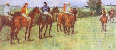Degas Jockeys, pastel on paper, Hill Stead Museum, Farmingto