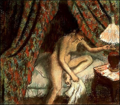 Degas Retiring, 1883, Pastel, The Art Institute of Chicago