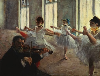 degas the rehearsal, probably 1878 or early 1879, 47 6x60
