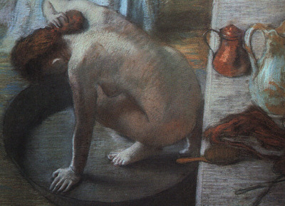 Degas The Tub, 1886, pastel on cardboard, Musee dOrsay, Par
