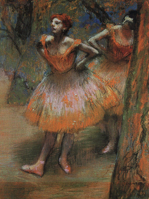 Degas Two Dancers, 1890, pastel on paper, The Art Institute