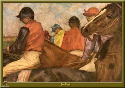 po degas 18 jockeys 1881