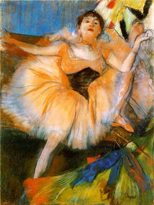 degas danseuse assise