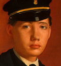 degas achille de gas in the uniform of a cadet, detalj 2,