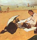 Degas At the Beach, 1876, oil on paper, National Gallery at