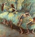 degas ballet dancers in the wings, 1890