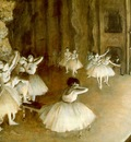 Degas Ballet Rehearsal on Stage, 1874, oil on canvas, Musee