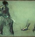 Degas Dancer Seen from Behind and 3 Studies of Feet c1878 N