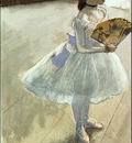 degas dancer with a fan,