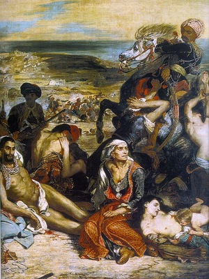 The Massacre at Chios, detail