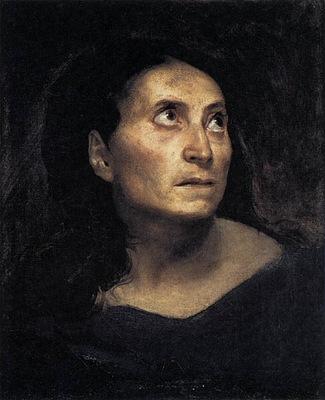 DELACROIX Eugene A Mad Woman