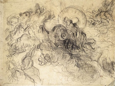 DELACROIX Eugene Apollo Slays Python sketch
