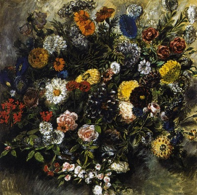 DELACROIX Eugene Bouquest of Flowers