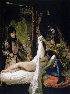 DELACROIX Eugene Louis d Orleans Showing His Mistress