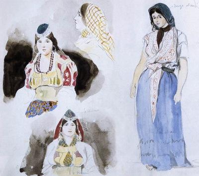 DELACROIX Eugene Moroccan Women