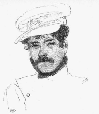 DELACROIX Eugene Self Portrait with Cap