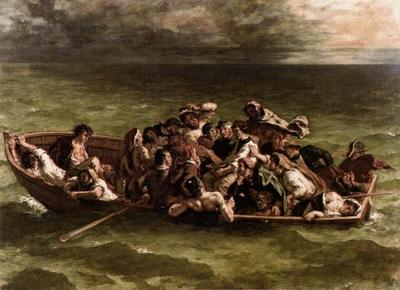 DELACROIX Eugene Shipwreck of Don Juan