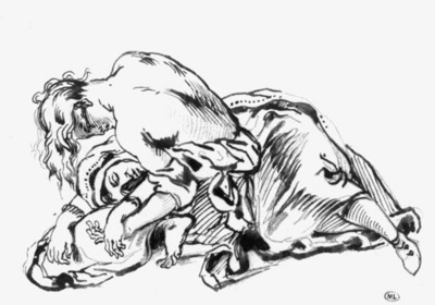 DELACROIX Eugene Sketch for Attila