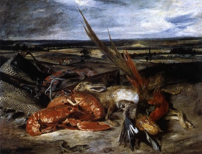 DELACROIX Eugene Still Life with Lobster