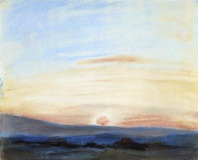 DELACROIX Eugene Study of Sky Setting Sun