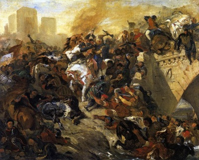 DELACROIX Eugene The Battle of Taillebourg draft