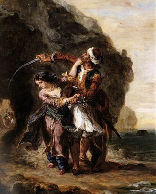 DELACROIX Eugene The Bride of Abydos