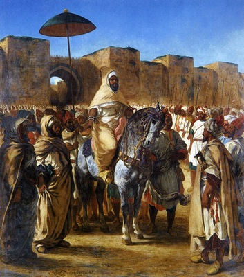 DELACROIX Eugene The Sultan of Morocco and his Entourage